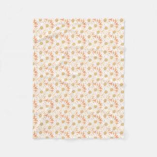 Beautiful Daisy Pattern  Fleece
