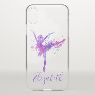 Beautiful Dancer with Splatter and Your Name iPhone X Case