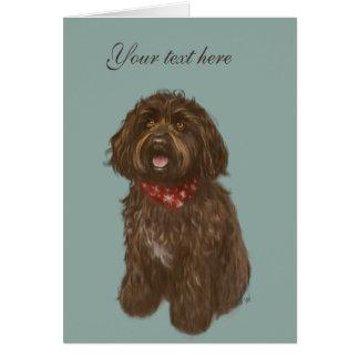 Beautiful Darcey Labradoodle Love Card