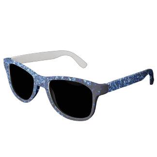 Beautiful Dark Blue glitter sparkles Sunglasses