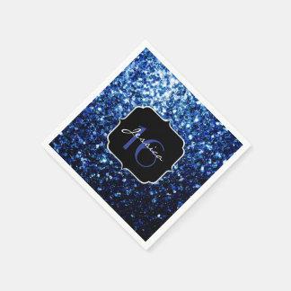 Beautiful Dark Blue sparkles Sweet 16 Disposable Napkin