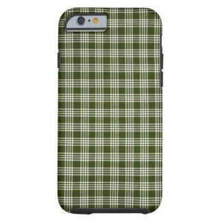 Beautiful, Dark Green and White Tough iPhone 6 Case