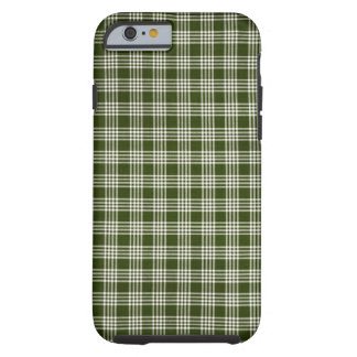 Beautiful, Dark Green and White Tough iPhone 6 Case