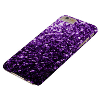 Beautiful Dark Purple glitter sparkles Barely There iPhone 6 Plus Case