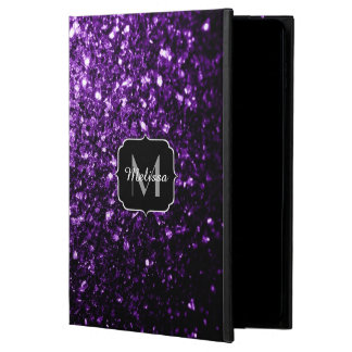 Beautiful Dark Purple glitter sparkles Monogram