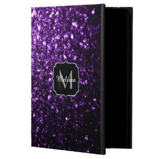 Beautiful Dark Purple glitter sparkles Monogram Powis iPad Air 2 Case