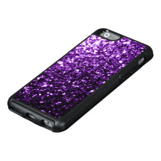 Beautiful Dark Purple glitter sparkles OtterBox iPhone 6/6s Case