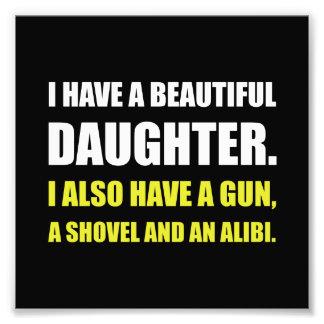 Beautiful Daughter Gun Photo Print