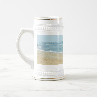 Beautiful Day at The Beach Beer Stein