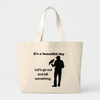 Beautiful Day for Falconry Large Tote Bag