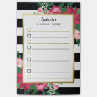 Beautiful December Bouquet Custom Name To Do List Post-it Notes