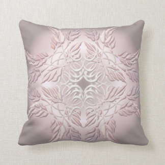 Beautiful  decorative element of leaves throw pillow