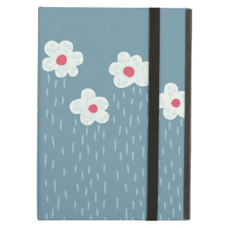 Beautiful Decorative Flower Pattern Rain Clouds iPad Air Case