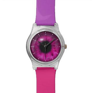 Beautiful Deep Purple Eye Wristwatches