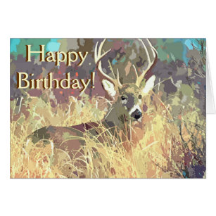 Deer hunting birthday cards invitations zazzle beautiful deer birthday card bookmarktalkfo Image collections