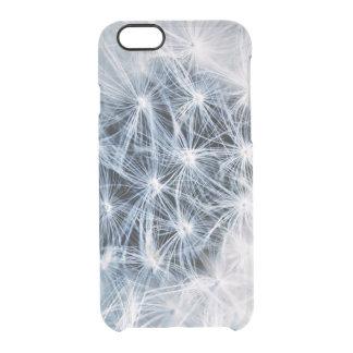 beautiful delicate dandelion flower photograph clear iPhone 6/6S case