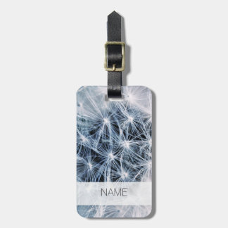 beautiful delicate dandelion flower photograph luggage tag