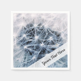 beautiful delicate dandelion flower photograph paper serviettes