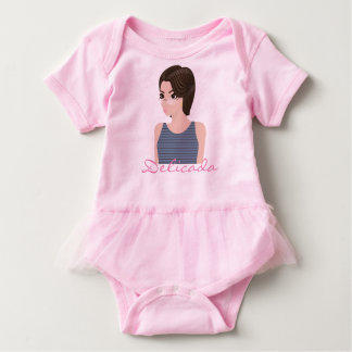 Beautiful delicate e baby bodysuit