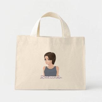 Beautiful delicate e mini tote bag