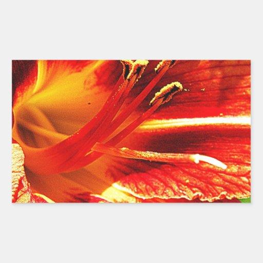 Beautiful Design Art Flowers Floral Flowers Colour Rectangular Sticker