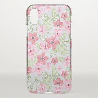 Beautiful design of fuchsia flowers. iPhone x case