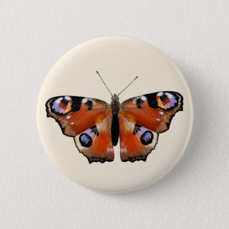 Beautiful design with butterfly 6 cm round badge