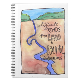 Beautiful Destinations and Journeys Journal Notebook