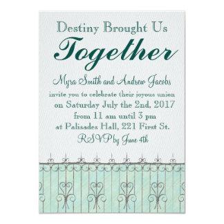 Beautiful Destiny Iron Heart Wedding Invitation