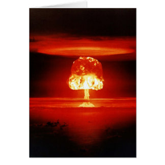 Beautiful Destruction Orange Mushroom Cloud Card