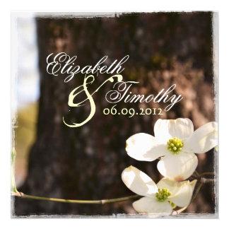 Beautiful Dogwood Wedding Invitation v3