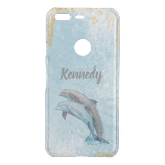 Beautiful Dolphins Jumping Out Of Water Uncommon Google Pixel Case