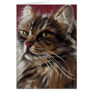 Beautiful Dreamer - Maine Coon Cat Card