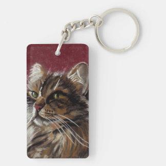 Beautiful Dreamer - Maine Coon Cat Keychain