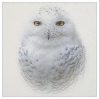 Beautiful, Dreamy and Serene Snowy Owl Fabric