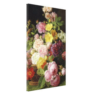 Beautiful Dutch Mixed Flowers Still Life Gallery Wrap Canvas