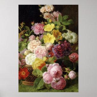 Beautiful Dutch Mixed Flowers Still Life Poster