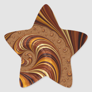 Beautiful Earth Tone Fractal Art Decor Sticker