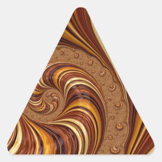 Beautiful Earth Tone Fractal Art Decor Triangle Sticker