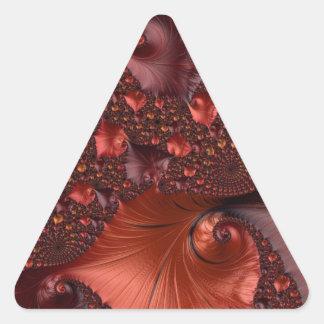 Beautiful Earth Tone Fractal Art Triangle Sticker