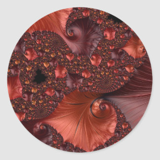 Beautiful Earth Tone Fractal Art Round Sticker