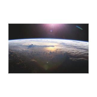Beautiful Earth Yuri Gagarin Canvas Print