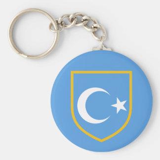 Beautiful East Turkestan Xinjiang Flag Key Chain