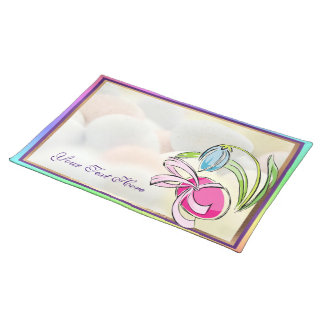 Beautiful Easter Egg, Ribbon and Flower Design Placemat