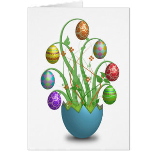 Beautiful Easter Egg Tree Card