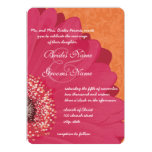 Beautiful Elegant Gerber Daisy Wedding Invitation