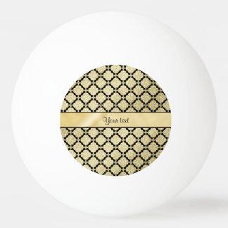 Beautiful Elegant Gold & Black Symetrical Ping Pong Ball