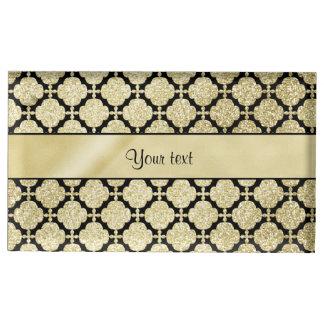 Beautiful Elegant Gold & Black Symetrical Table Card Holder