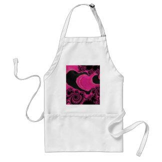 Beautiful Elegant Pink/Black Fractal Art Standard Apron