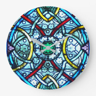 Beautiful Elegant Stained Glass Notre Dame Paris Wall Clocks